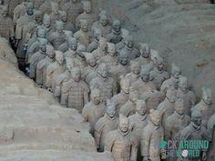 Die Terrakotta Armee vom Kaiser Qín Shǐhuángdì in Halle 1 – Terracotta Warriors of the first emperor Qín Shǐhuángdì in Pit 1 in Xi'an, China