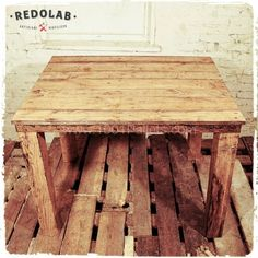 pallet Table in pallet living room  with wood upcycling Table reuse recycling recycle pallet Living...
