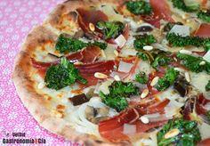 Pizza de berenjena, kale y jamón   Gastronomía & Cía