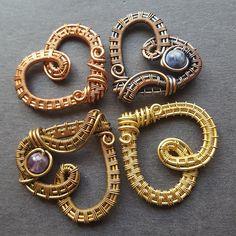 Bridesmaid Jewelry set of 4, Gemstone Heart Necklaces, Bridesmaid Necklaces, Bridesmaid Gifts set of 4 Gemstone Heart Jewelry Rustic Wedding