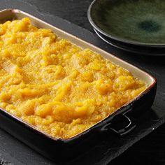 Creamy Butternut Squash Casserole Recipe -When Mom didn't couldn't get sweet potatoes in Zimbabwe, she substituted this creamy casserole, adding sweetness and spice to butternut squash. It soon became a family favorite. Thanksgiving Recipes, Fall Recipes, Holiday Recipes, Zimbabwe Food, Zimbabwe Recipes, Butternut Squash Casserole, Thing 1, Vegetable Dishes, Vegetable Recipes