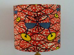 Orange Blue Yellow Wine Glass African Print Lampshade 20cm Drum by AnkaraLampshades, £25.00