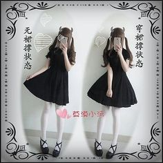 Japanese Sweet Bow Vintage Mori Girl Lady Slim Dress Elegant Gothic Princess Moe