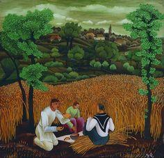 Ivan Generalic / Harvester, ca. 1939 #naive_art  #croatia