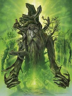 Treebeard~ LotR Artwork By Jerry Vanderstelt Gandalf, Legolas, Fantasy World, Fantasy Art, Fantasy Heroes, Star Wars Painting, Tree People, O Hobbit, Hobbit Art