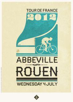 Cycling Print • Tour de France 2012 Prints by Neil Stevens • Purchase at http://crayonfireshop.bigcartel.com/