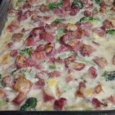 Ham potato and broccoli casserole