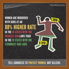 Laws DO matter. Laws can save lives. It's time Congress act to protect women, not killers.