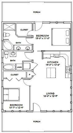 53 Best 2 Bedroom Floor Plans Images House Floor Plans