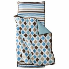 Bacati Mod Diamonds/stripes Aqua/chocolate Nap Mat by Bacati. $39.99. Provide your kids with all the comfort - anywhere they need. Napmats can be placed anywhere in the house and even outside. It can also be used as a sleeping bag when go for any picnic or trekking. It's easy to carry this light weight portable bed with attached pillow and quilt.Nap mat rolls up easily with fastening straps for storage and has carrying straps for travel.Bacati Mod Dia/Strps Aqua Nap m...