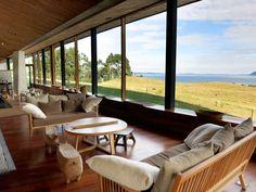 Lounge at Tierra Chiloé - Chiloé Island, Patagonia, Chile.