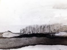 Abstract Landscape using torn paper and charcoal.