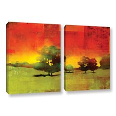 ArtWall 'Greg Simanson's Tree Study ' 2-piece Gallery Wrapped Canvas Set