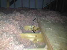 Attic Wallfish for cable jack relocation to opposite wall