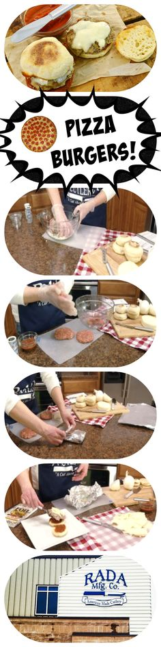 These pizza burgers will POP in your mouth! They taste amazing! How To Dry Rosemary, How To Dry Oregano, How To Dry Basil, Incredible Pizza, Amazing, Pizza Burgers, Hamburger Patties, Seasoning Mixes, Cutlery