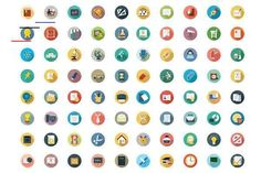 Ad: 175 Education Vector Icons by Creative Stall on creativemarket. Here is a fun collection of some 175 Education Vector Icons, presented in a neat, flat color design. If youre looking for some clipart or Web Design Icon, Page Design, Flyer Design, Vector Icons, Vector Free, Education Banner, Monogram Cake Toppers, Vector Logo Design, Floral Foam