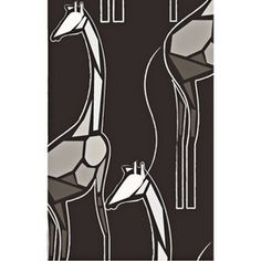 just one wall...I could so pull it off...ok maybe not...California Cutpaper Giraffes Wallpaper in Black$109.95