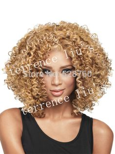 Africa-American Fashionable short Curly Hairstyle hair full wig Synthetic hair wigs Free Shipping