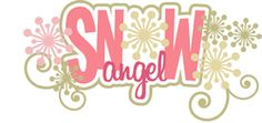 Scrapbook Layout Title - Snow Angels