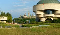 The renovated plaza at the Canadian Museum of Civilization is a recreation of nearby prairies and creates a sustainable microclimate.
