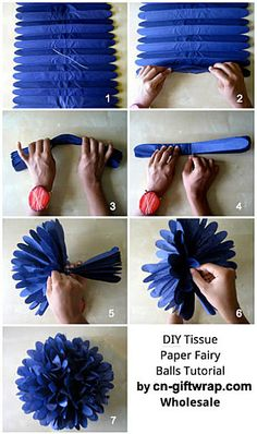 How to Make Tissue Paper Fairy Flower Ball Decorations - Gift decorations Holiday decorations