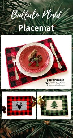 Captivating All About Crochet Ideas. Awe Inspiring All About Crochet Ideas. Modern Crochet Patterns, Christmas Crochet Patterns, Holiday Crochet, Plaid Crochet, Easy Crochet, Crochet Gratis, Free Crochet, Crochet Placemats, Christmas Placemats