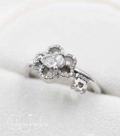 Key Diamond Engagement Ring
