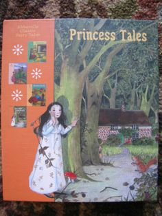Princess Tales Set by Charles Perrault and Jacob Grimm Hardcover Book Box Set VG