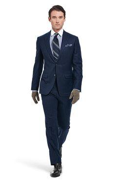 Stripe wool/cashmere suit