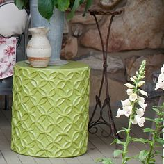 Flower Stool and Accent Table