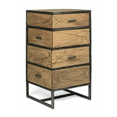 Chest of Drawers Egon in Acacia Living Room Modern, Living Room Designs, Interior S, Interior Decorating, Bedside Organizer, Winsome Wood, Wood End Tables, Whitewash Wood, Bedroom Night Stands