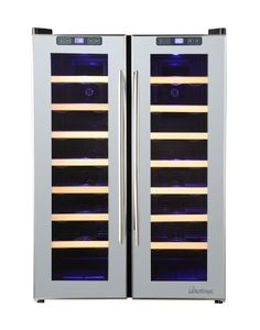 Special Offers - Vinotemp 48-Bottle Dual-Zone Mirrored Wine Cooler - In stock & Free Shipping. You can save more money! Check It (May 31 2016 at 09:01PM) >> http://standmixerusa.net/vinotemp-48-bottle-dual-zone-mirrored-wine-cooler/