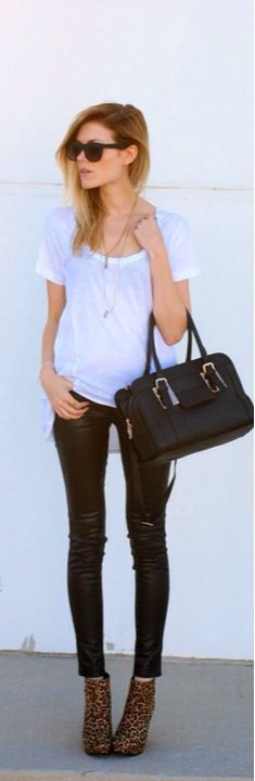 Skinnies and White Top
