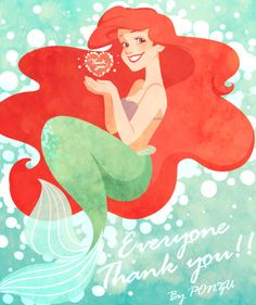 disney the little mermaid ariel thank you