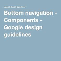 Bottom navigation - Components - Google design guidelines