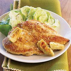 10 easy ways with artichokes   Lemon-Artichoke Chicken   Sunset.com