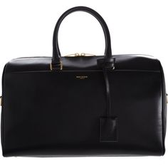 Saint Laurent Classic 12 Hour Duffel (1,400 CAD) ❤ liked on Polyvore featuring bags, luggage, saint laurent y black