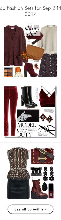 """""""Top Fashion Sets for Sep 24th, 2017"""" by polyvore ❤ liked on Polyvore featuring Raey, Miss Selfridge, Clarins, Bobbi Brown Cosmetics, Tommy Hilfiger, Anne Klein, Tory Burch, MAC Cosmetics, Dolce&Gabbana and Vetements"""