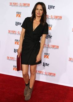 """Elizabeth Reaser at """"The People v O.J. Simpson: American Crime Story"""" premiere in January 2016..."""