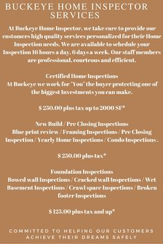 26 Best Your Buckeye Home Inspection  images in 2016 | Home