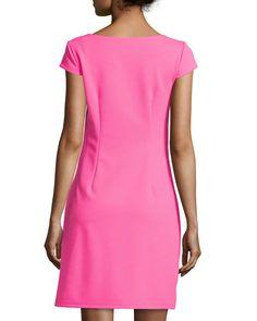 Chetta B Cap-Sleeve Zip-Pocket Sheath Dress, Fruit Punch Fruit Punch, Last Call, Clearance Sale, Sheath Dress, Neiman Marcus, Cap Sleeves, Dresses For Work, Pocket, Zip