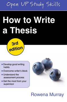 rowena murray how to write a thesis pdf