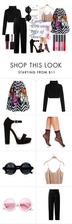 """""""2 outfits with one type of shoes"""" by afilaina on Polyvore featuring Chicwish, Valentino, Kate Spade, Chanel, ZeroUV, Acne Studios and Smashbox"""