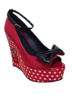 c6be183b2889 Chaussures Ouvertes Pin-Up Rockabilly Vintage Banned