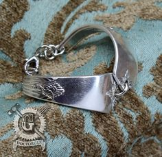 Guild 1932 Pattern Spoon Bracelet - Adjustable - Handmade by Doctorgus from Recycled Vintage Silverware - Repurposed Upcycled Jewelry