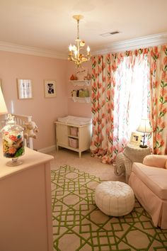 Modern prints in traditional pink #nursery