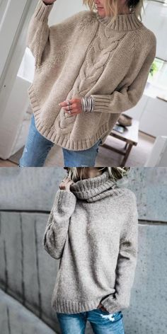 Braut Pullover aus Mohair Mix in Ivory & Mailenn Basic Fashion, Womens Fashion, Fall Winter Outfits, Autumn Winter Fashion, Winter Stil, Winter Mode, Sweater Fashion, Casual Fall, Cardigans For Women
