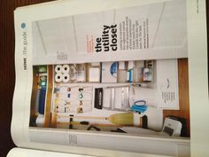 Real Simple Magazine On How To Organize The Utility Closet · Cleaning Supply  ...
