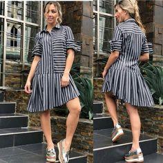 Linen Dresses, Cute Dresses, Short Dresses, Summer Dresses, Hope Fashion, Fashion Outfits, Girl Fashion, Pakistani Fashion Party Wear, Collared Shirt Dress
