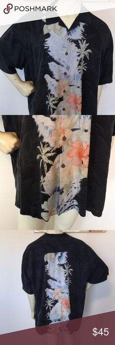 Tommy Bahama Floral Silk Hawaiian Shirt Made in China  100% silk  Pit to Pit is 29 inches Top to Bottom is 31 inches Shoulder to Shoulder is 24 inches Tommy Bahama Shirts Casual Button Down Shirts